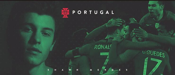 Shawn Mendes apoia Seleção de Portugal no Mundial de Futebol 2018 faa6b3b981b0b